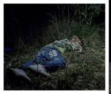 Ahmed, 6 years old HORGOS, SERBIA. It is after midnight when Ahmed falls asleep in the grass. The adults are still sitting around, formulating plans for how they are going to get out of Hungary without registering themselves with the authorities. 